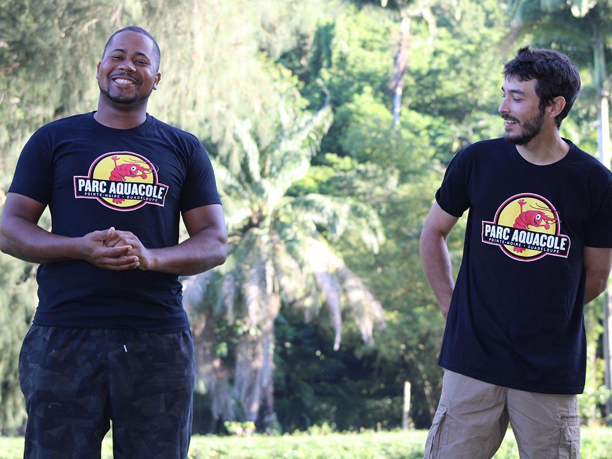 Photo de nos tee-shirt du parc aquacole de Guadeloupe